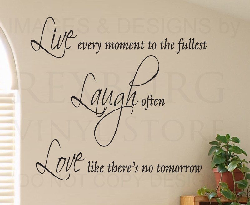 Wall Sticker Decal Quote Vinyl Lettering Adhesive Graphic Live Laugh