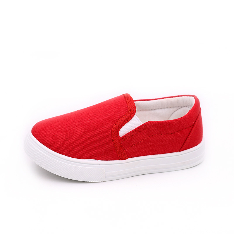 2018Kid Sports Casual Canvas Shoes Boys Girl Spring And Autumn Solid Breathable Shoes Ch ...