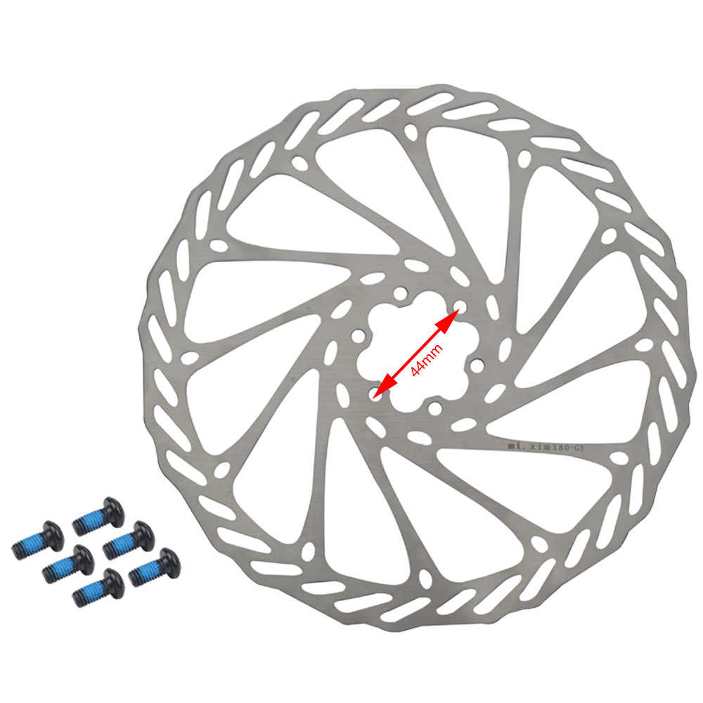 Dymoece 2 discos de freno para bicicleta con 12 tornillos de 140 mm//160 mm//180 mm//203 mm para bicicleta de monta/ña y carretera