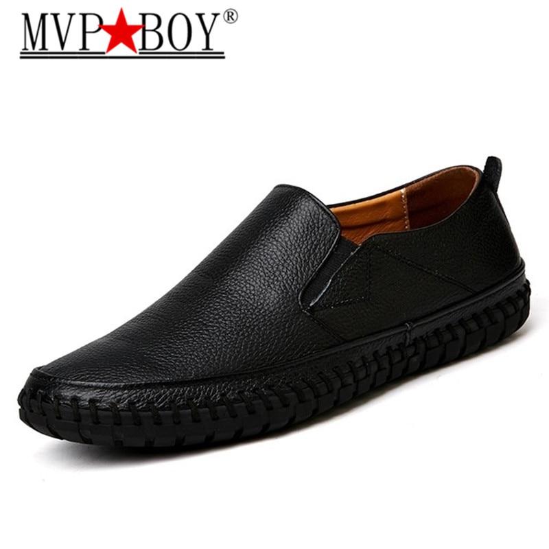 Designer jaune Noir Hommes Mvp Garçon Italien blanc En Véritable bleu Cuir Glissement Sur marron Noir Mocassins Grande Chaussures Taille ZilPXuTwkO