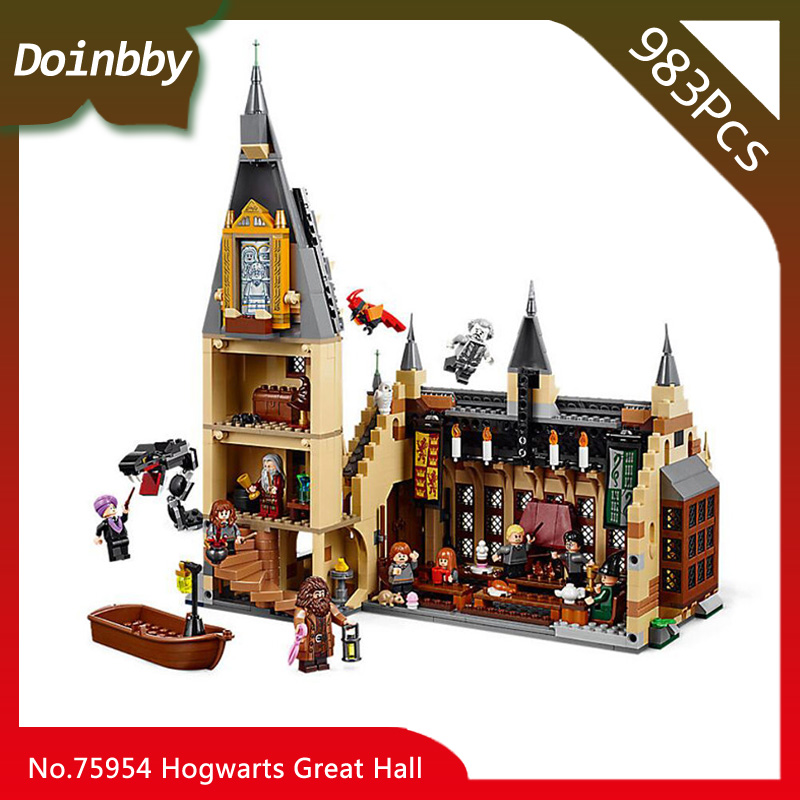 Harri Movie Potter Compatible with Legoings 75954 Hogwarts Great Wall Set Building Blocks House Model Kids Toys great wall style building home with jim spear