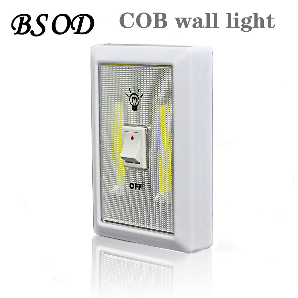Magnetic Dual COB LED Cordless Lamp BSOD Switch Wall Night Light  Battery Operated Cabinet Garage Closet Camping Emergency Light