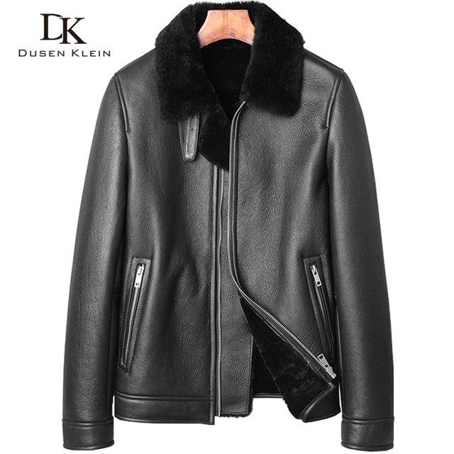 1decd8c3e6c26 Krótki Wełny kurtki mężczyzna Marka Luksusowe oryginalne ekologiczne kożuch  męski skóry o grubości wełny kurtka odzież