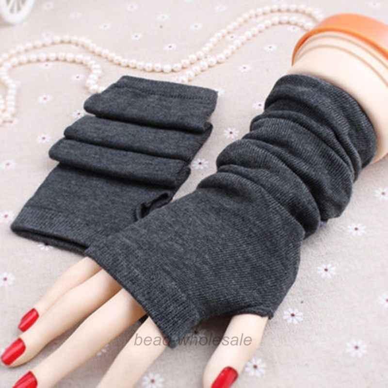 e299d38f2a6 ... Hot Women Winter Wrist Arm Hand Warmer Knitted Long Fingerless Gloves  Mittens  012 ...