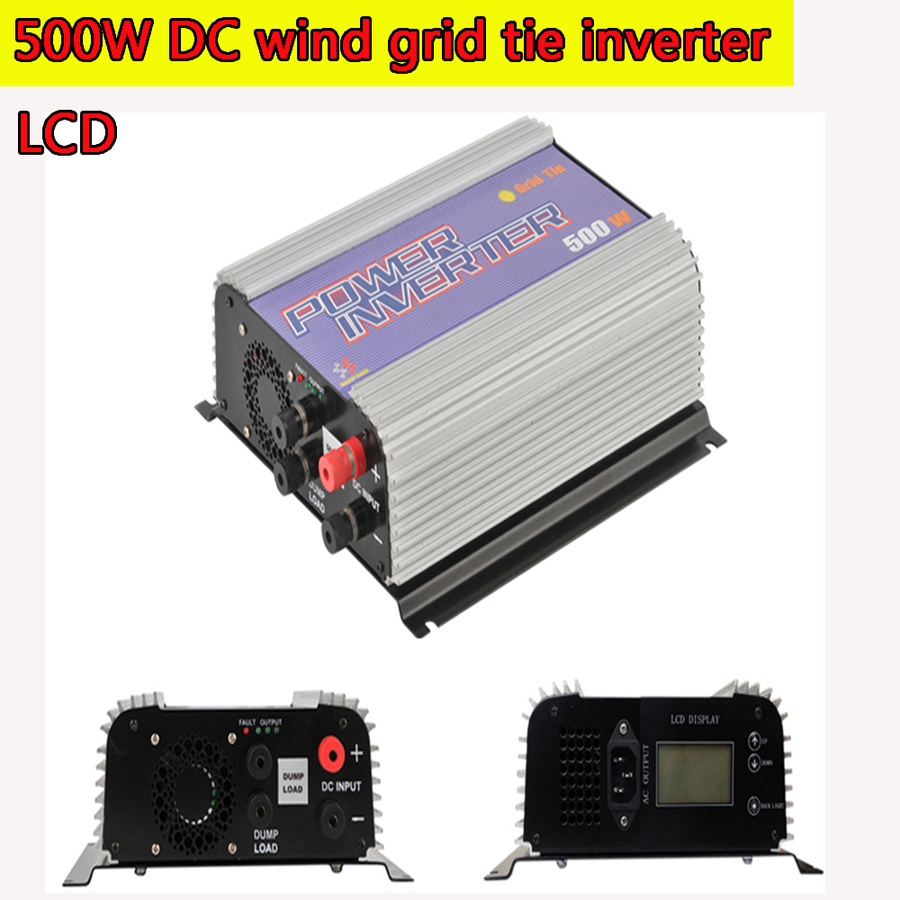 500W Grid Tie Power Inverter for DC Input Wind Turbine MPPT Pure Sine Wave Inverter with Built-in Dump Load Controller Sun-500G 1500w grid tie power inverter 110v pure sine wave dc to ac solar power inverter mppt function 45v to 90v input high quality