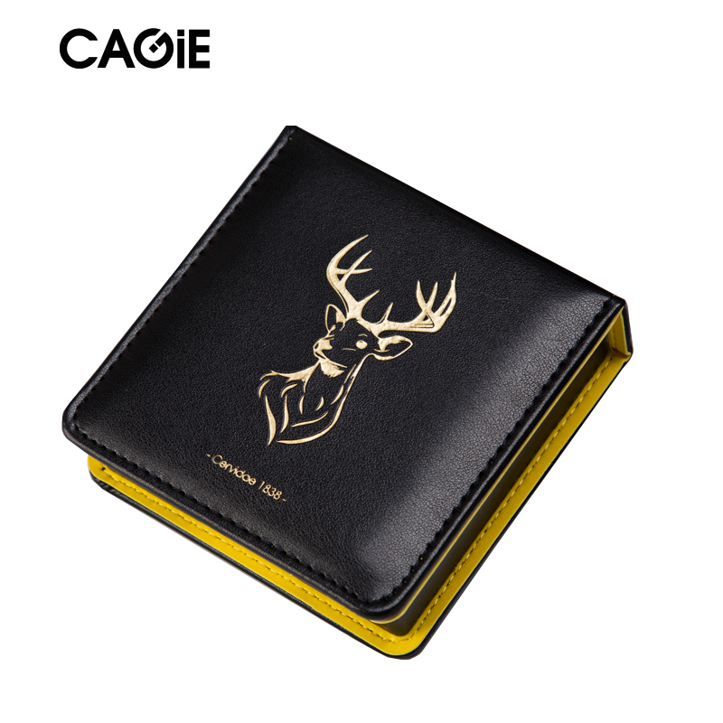CAGIE Business Creative Trend Office Memo Pad Black Pu Leather Vinateg Blocking Note Pad School/Office Planner Filofax 2018 pet transparent sticky notes and memo pad self adhesiv memo pad colored post sticker papelaria office school supplies
