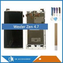 4,7 дюйма для Wexler Zen ЖК-дисплей + сенсорный дигитайзер экран в сборе высокое качество белый цвет с рамкой с инструментами ленты