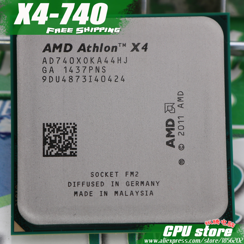 Free Shipping  AMD X4 740 Quad-Core FM2 3.2GHz 4MB 65W CPU Processor  Pieces X4-740 (working 100%)  740 ,there Are, Sell X4 730