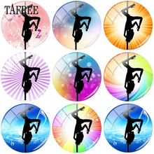 TAFREE Popular Photo Silhouette Pole Dance Pose 12mm- 20mm In Dia Beads Glass Cabochon Dome Jewelry Findings Components