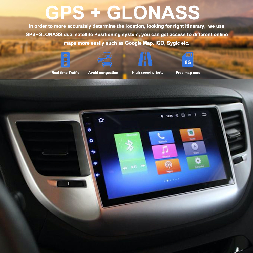 Dasaita 2din for Hyundai Tucson IX35 2016 2017 Android 8 0 IX35 autoradio navigation head unit