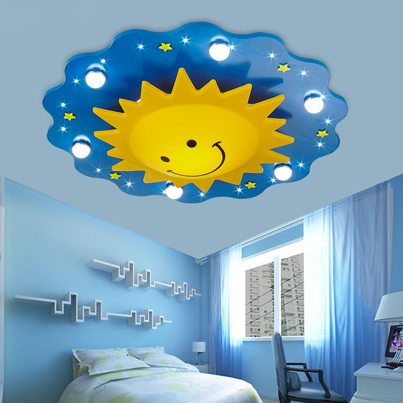 Surface mounted Children Ceiling lamps Kids Bedroom Cartoon Sun ...