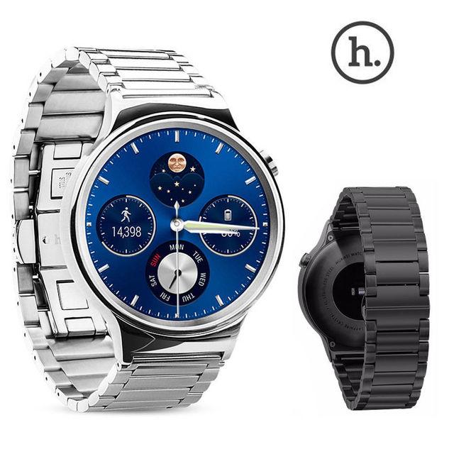 Original hoco acero inoxidable 316l correa para la muñeca para huawei inteligente reloj de la mariposa hebilla de correa de reloj huawei watch w ajustar herramienta