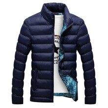 冬のジャケットの男性 2020 ファッションスタンド襟男性パーカージャケットメンズ固体厚手のジャケットとコートの男冬パーカー M 6XL