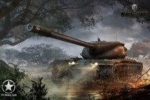 World of tanks t57 тяжелый танк игры плакат шелковой ткани принт стикер настенный Декор Пользовательские печати