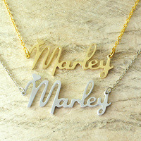 Custom Alloy Necklace Initials Name Necklace New Font Style Choose Any Name Personalized Jewelry