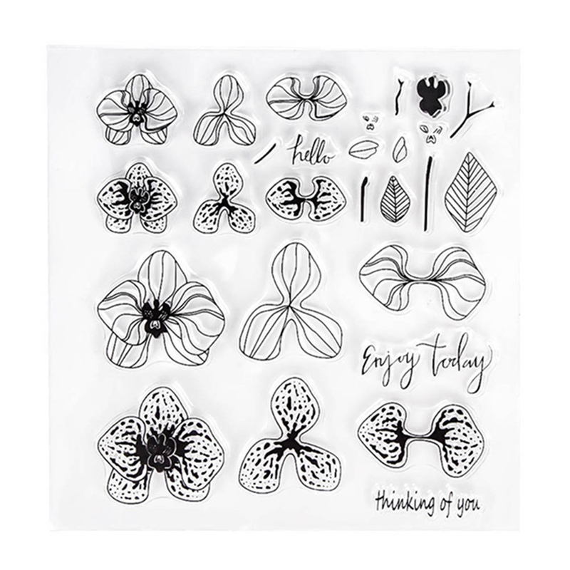 New Flowers Transparent Clear  Stamp For DIY Scrapbooking Photo Album Decorative Stationery Set