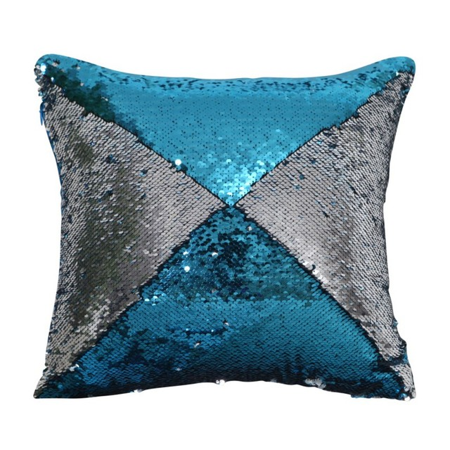 sequins pillowcase magical throw pillows color changing reversible pillow cover 40cm40cm cushion cover - Color Changing Pillow