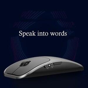 Image 3 - Ai voz inteligente sem fio mouse suporte de entrada de voz alta precisão sensing 2.4g mouse sem fio bluetooth rechargable
