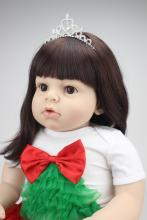 70cm 28″ silicone reborn toddler dolls Arianna Tatiana baby toys lifelike cute girl long hair fashion dress best girls gift