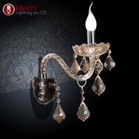 European beside lamps wall light crystal living room wall lamp gold candle wall lamp romantic wall lamp bedroom lights