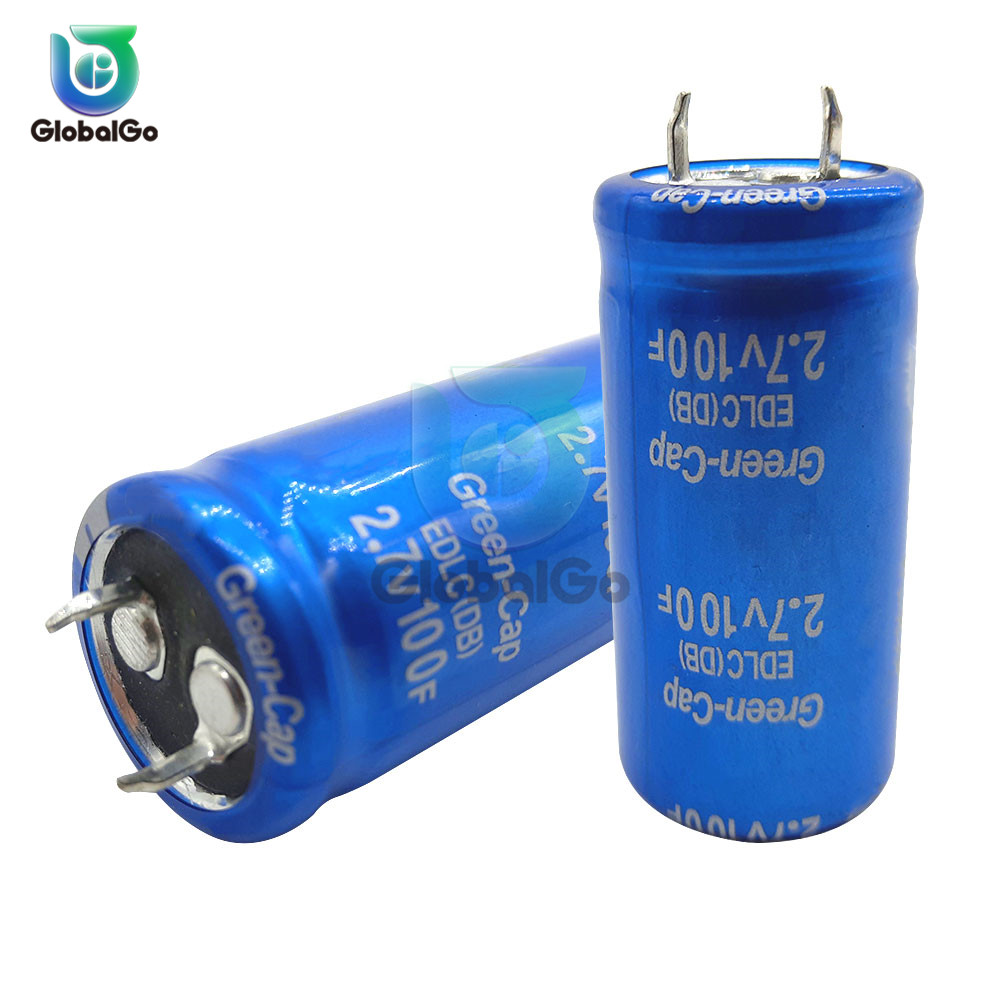1pcs <font><b>Capacitor</b></font> <font><b>2.7V</b></font> 100F <font><b>400F</b></font> 360F 500F <font><b>Super</b></font> <font><b>Capacitors</b></font> Through Hole Electronic Components Package <font><b>Capacitor</b></font> Assorted Kit image