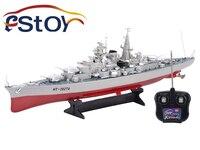 New RC Warship seconde guerre mondiale allemagne Bismarck Battleship modèle à distance bateau de contrôle haute Simulation grand navire de guerre jouets