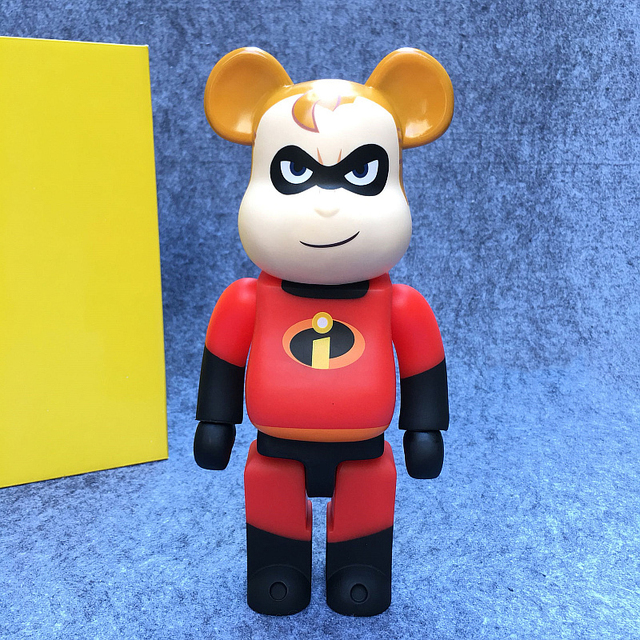 Hot Sell 400% Bearbrick Cospaly Super Hero & Man Vinyl Doll Art Figure With box