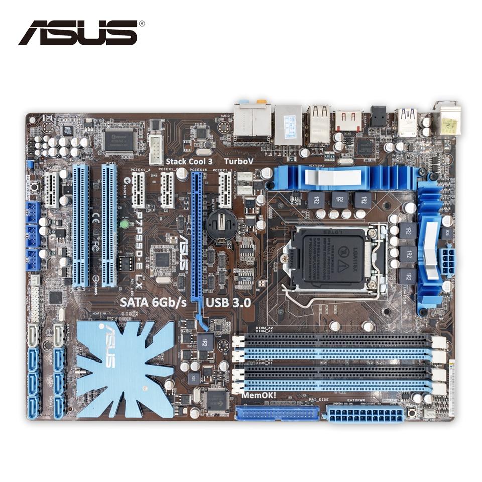Asus P7P55D-E LX Desktop Motherboard P55 Socket LGA 1156 i3 i5 i7 DDR3 16G SATA3 USB3.0 On Sale ATX Second-hand High Quality велосипед stels navigator 470 v 2016