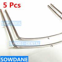 5 Pcs Dental Rubber Dam Frame Instrument Tool Stainless Steel 10CM/7.3CM/12CM Teeth Whitening