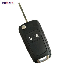 PREISEI 2 Button Replacement Flip Folding Remote Car Key Shell For Opel Vauxhall Astra H Insignia J Vectra C Corsa D Zafira G qwmend car remote key shell for opel vauxhall astra j corsa e insignia zafira c for chevrolet cruze 2009 2015 hu100 blade key