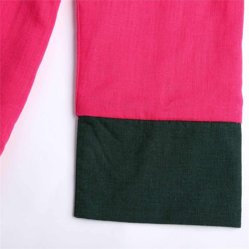 上海ストーリー女性のコインバックルジャケット高品質リネンカジュアル中国伝統服用女性トップスピンク
