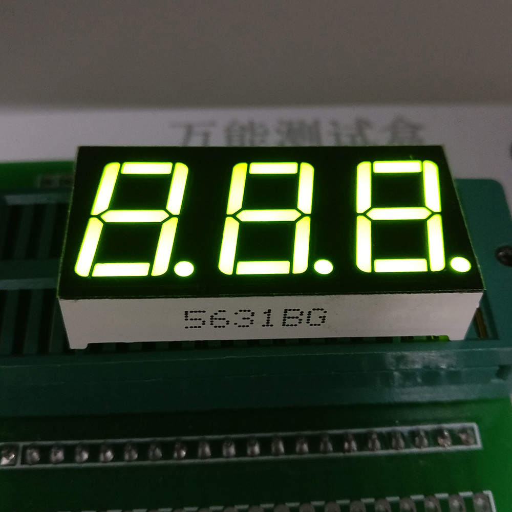 10pcs 7 segment Common Cathode /Anode 3 Bit digital Tube 0.56 0.56in. yellow green LED Display 7 segmentos LED Digital tube 100 pcs ld 3361ag 3 digit 0 36 green 7 segment led display common cathode