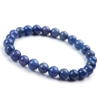7mm Genuine Blue Zoisite  Natural Stone Bracelet Women Femme Charm Stretch Round Bead Bracelet Just One