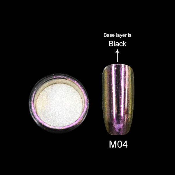 Bozlin Metallic Gel Polish Glitter Powder Mirror Effect Uv Nail