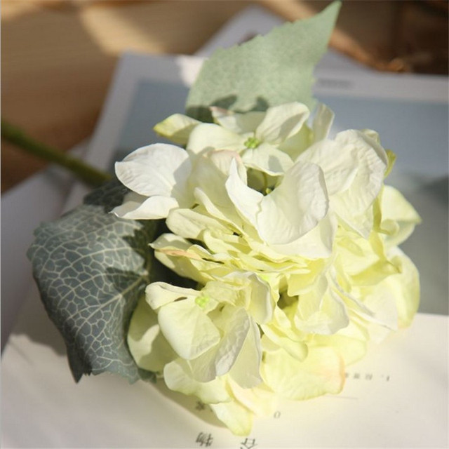 Light green artificial hydrangea silk flowers for wedding bouquet light green artificial hydrangea silk flowers for wedding bouquet flower arrangements 6pcslot 35cm mightylinksfo