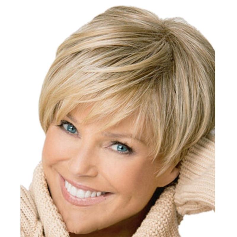 peluca parrucca perruque luz damas estilo europeo 12 pulgadas fresco moderno de oro peluca de pelo