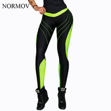 NORMOV Sexy Gothic Leggings Women Fitness Clothing High Waist Pants Female Patchwork Push Up Printed Jeggings Femme 5 Color