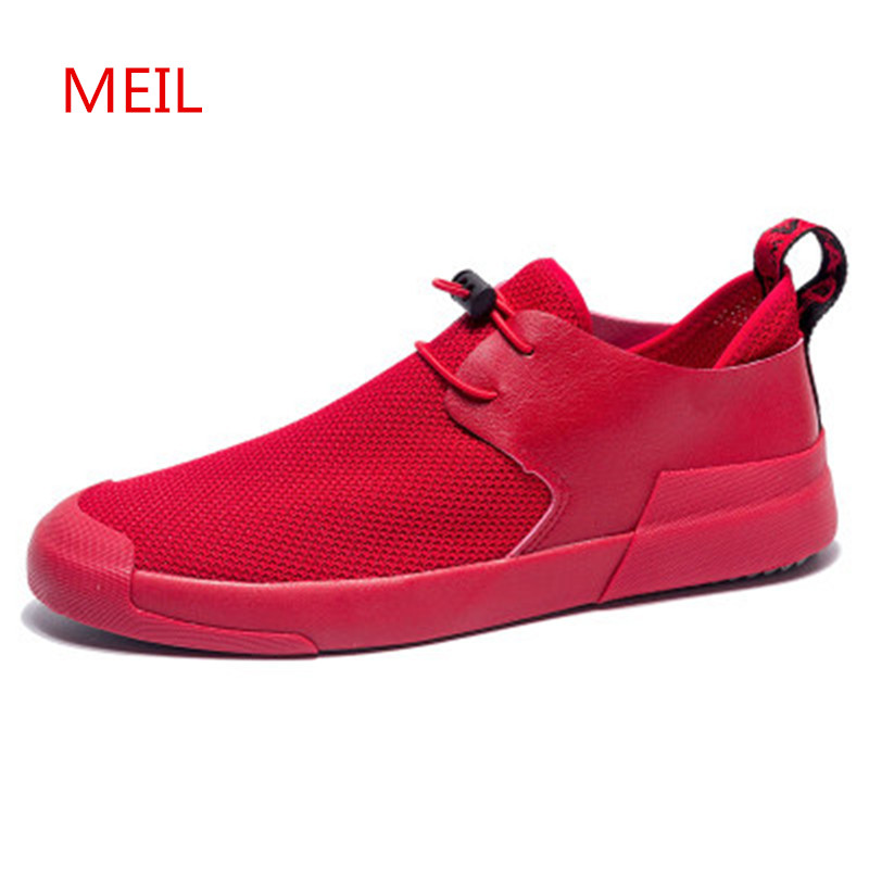 Breathable Mesh Sneakers Slip on Sport Shoes Men Casual Shoes Summer Male Fashion Footwear Walking Mens Loafers Tenis Zapatillas mycolen 2018 new summer breathable men casual shoes slip on male fashion footwear height increasing sneakers sepatu casual pria