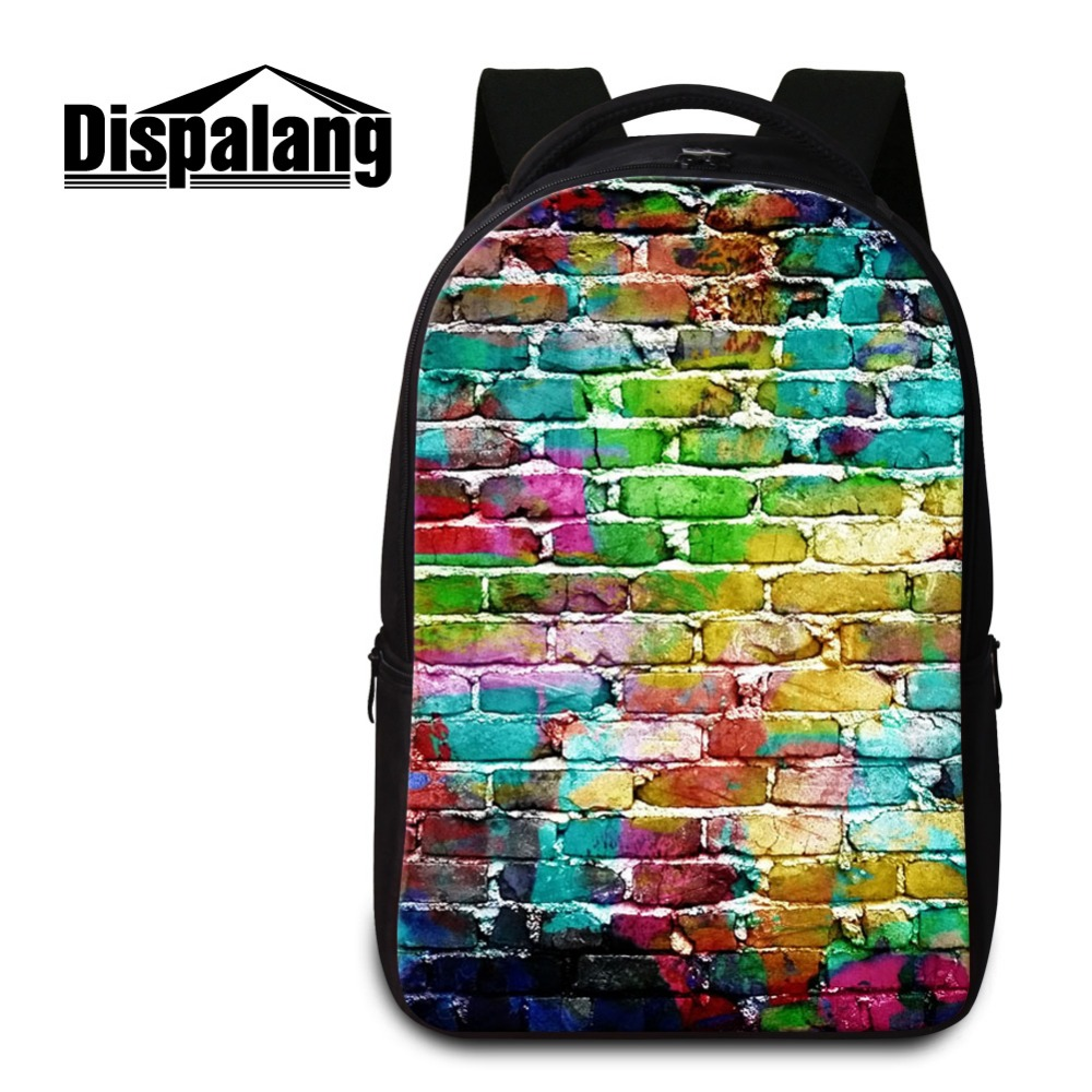 ФОТО Dispalang Large School Bags for Girls Art Colorful Shoulder Backpacks with Laptop Sleeve Fashion Bookbags for College Students