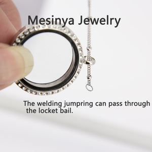 Image 5 - 25pcs 20 316L S.steel Ball Station Chain For Custom Floating Charms Glass Locket  Pendant Necklace Without Locket