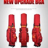 Multifunctional Golf Travel Bag Wheels Stand Caddy Airbag Flight Aviation Big Capacity Golf Cart Bag Staff Golf Bags D0644
