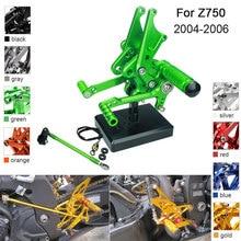 цена на CNC Aluminum Adjustable Rearsets Foot Pegs For Kawasaki Ninja ZX-14 ZX14 ZZR1400 2006 2007 2008 2009 2010 2011
