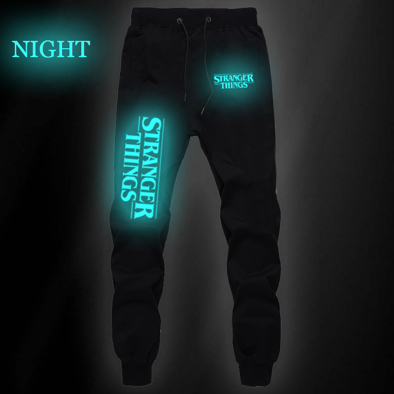 Casual Stranger Things Luminous Pants Summer New Casual Cotton Sweat Breathable Bodybuilding Jogger Pants Men Jogging Long Pants