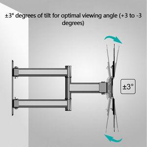 """Image 3 - Soporte de pared de TV giratorio inclinable para Monitor de pantalla plana LED de 26 50 """", VESA 400x400 con brazo de extensión articulado de movimiento completo"""