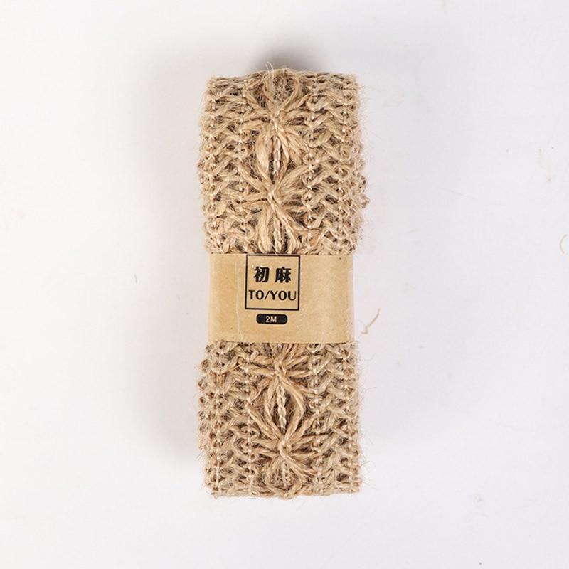HTB1UOi6asrrK1RjSspaq6AREXXat 2M/Roll Natural Party Crafts Wedding Ribbon Gift Warrping Hemp Ribbon Jute Burlap DIY Festival Supplies Festival Decoration