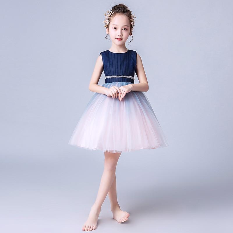 Kid Clothing Flower Girl Dress Normal For Party Wedding Girls Dress Lace Up Appliques Ball Gown Kids Dresses Flower Girl Kjoler