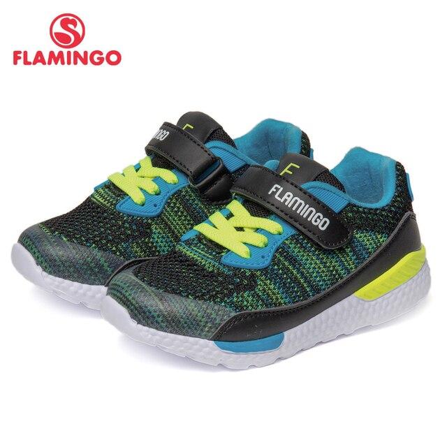 Бренд фламинго, дышащая АРКА, на липучке, TPR, детская спортивная обувь, кожа, размер 24-30, детские кроссовки для мальчиков 91K-JL-1216