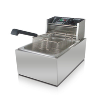 6L Stainless Steel Single Cylinder Electric Commercial Fryer French Fries Fried Chicken Machine Donut Machine Free