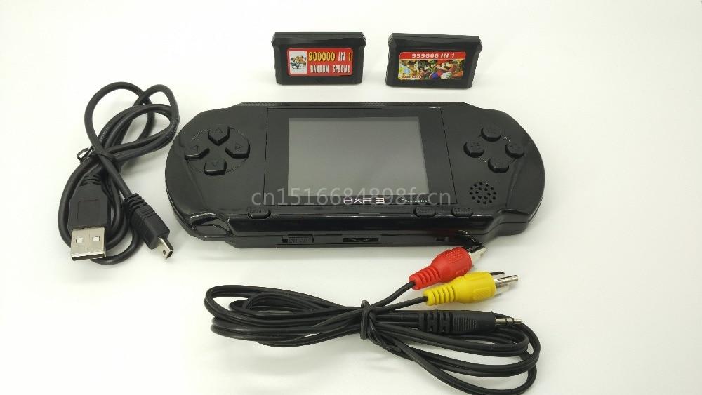 Перезаряжаемые Ручной игровой консоли игровой приставки для 16 бит игры с 156 игр Выход к ТВ