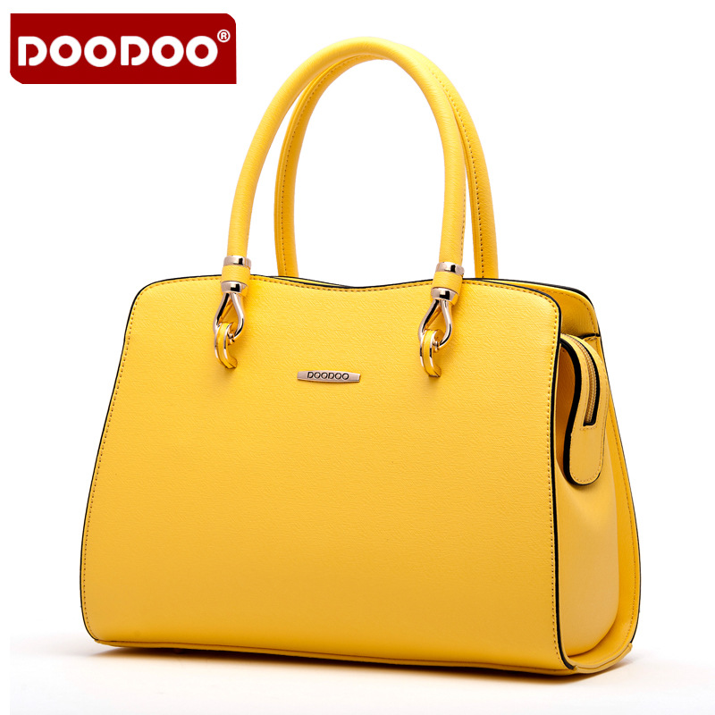 DOODOO Women Genuine Leather Handbag Patent Women's Shoulder Bags Bolsa Femininas Famous Brand crossbody bags for women new C145 patent leather handbag shoulder bag for women